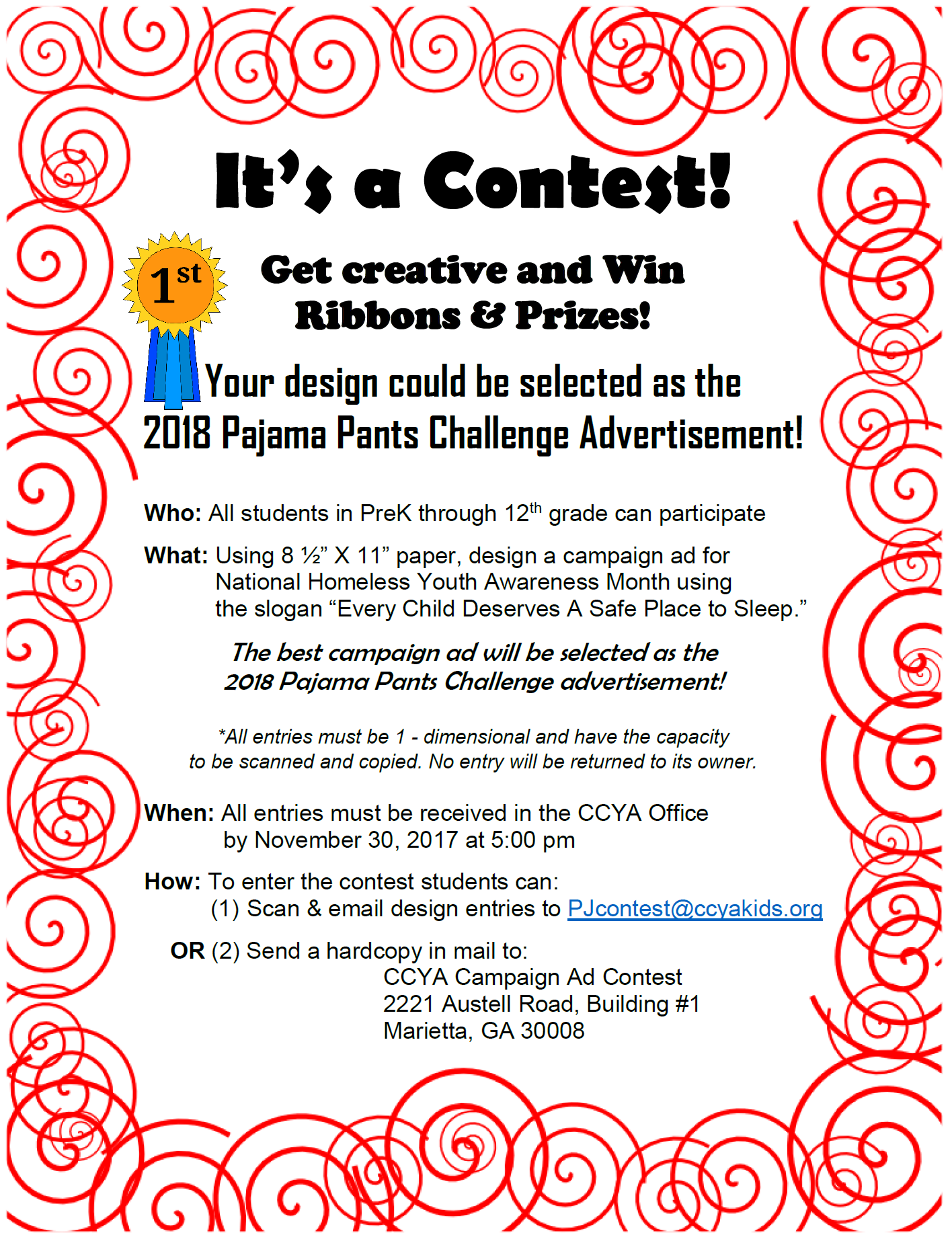 Pj contest flyer 2017 final for How to become a builder in ga